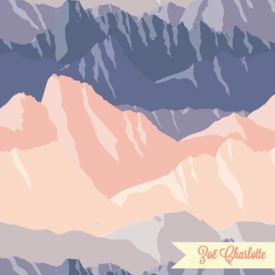 This print was inspired by my trip to New Zealand in winter, and the majestic, snowcapped mountains that dominates the landscape.
