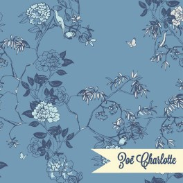 A delicate floral design inspired by Chinoiserie wallpaper