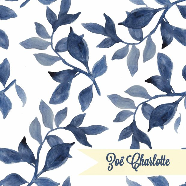 indigo leaf watercolour logo