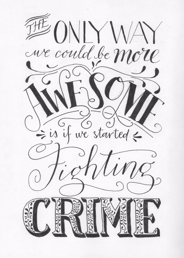 fighting crime lettering